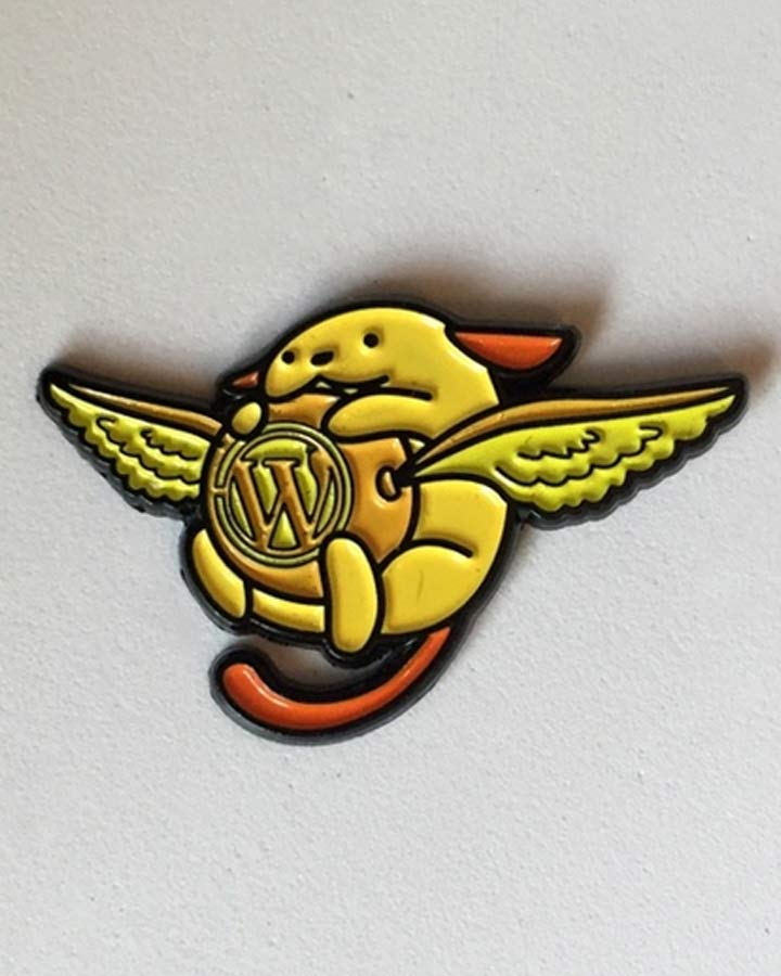 Snitch Wapuu Pin WordCamp Orlando 2015
