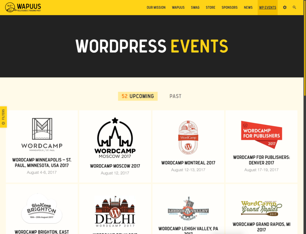 list of Upcoming WordPress Conference & Events.