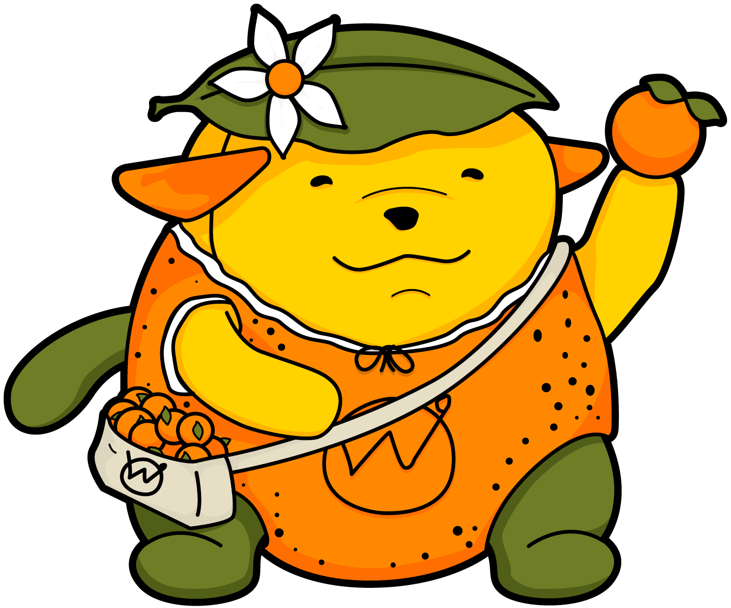 Tangerine the Wapuu