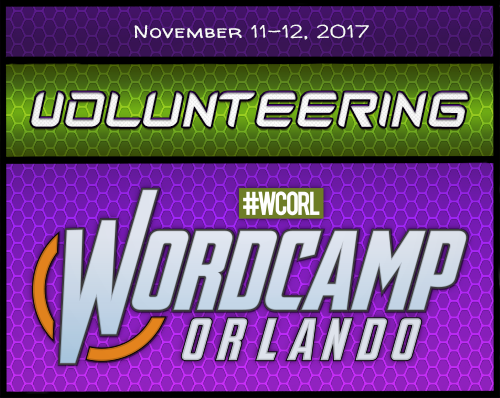 Volunteering WordCamp Orlando 2017 Badge