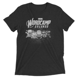 WordCamp Orlando 2017 Grayscale T-Shirt